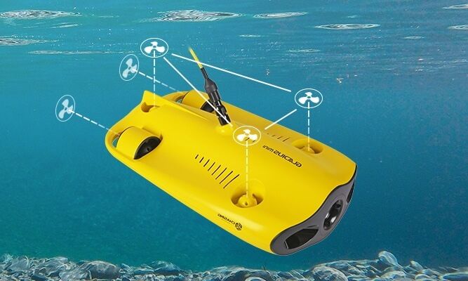 mini underwater drone Intelligent Propulsion and Precision Hovering
